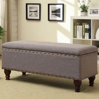 Kinfine Nail Head Trim Storage Bench