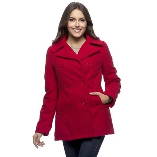 Excelled Women's Double Breasted Pea Coat