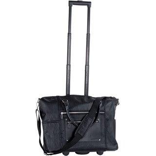 CalPak 'Zanny' Black Grain 21-inch Laptop Tote Bag