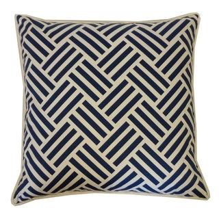 Navy Tribal Throw Pillow