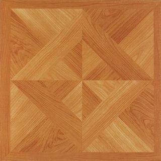 12x12 Light Oak Diamond Parquet Self Adhesive Vinyl Floor Tiles (Pack of 20)
