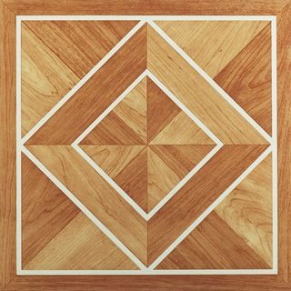 12x12 Inlaid Parquet Self Adhesive Vinyl Floor Tile (Pack of 20)