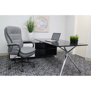 Boss Heavy Duty Double Plush LeatherPlus Chair
