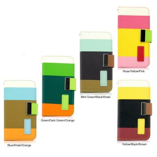 Gearonic iPhone 5C PU Leather Card Holder Magnetic Wallet Case