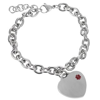Journee Collection Stainless Steel Medical ID Bracelet