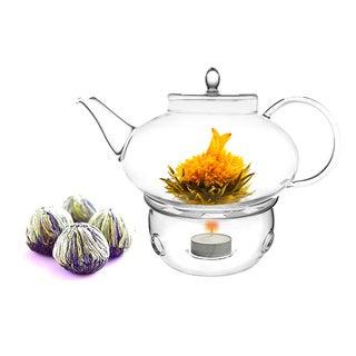 Tea Beyond Fab Flowering tea Harmoney set with tea warmer Cozy