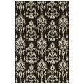 Hand-tufted Swanky Black Ikat Wool Rug (2' x 3')