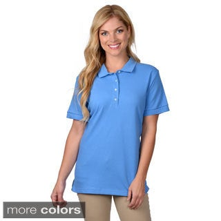 Journee Collection Women's Short-Sleeve Spread-Collar Polo Shirt