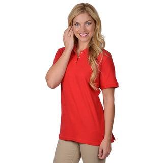 Journee Collection Women's Lightweight Short-Sleeve Polo Shirt