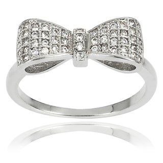 Journee Collection Cubic Zirconia Bow Ring
