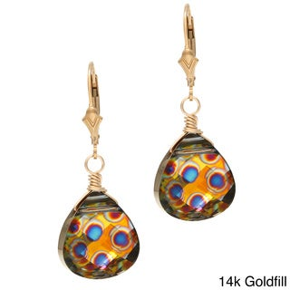 Charming Life Peacock Elegance Crystal Briolette Earrings