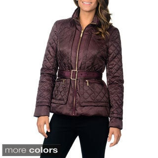 Ivanka Trump Women's Quilted Belted Jacket