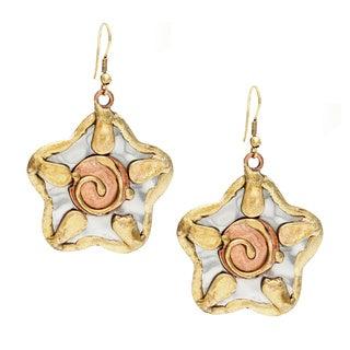 Handmade Sun Design Stainless Steel Earrings (India)
