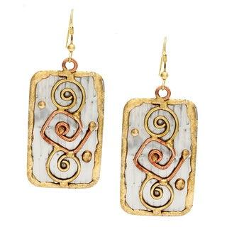 Handmade Abrstract Design Stainless Steel Earrings (India)
