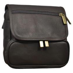 David King Leather 409 Large Double Pocket Waist Pack Cafe