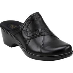 Women's Clarks April Daisy Black Leather