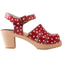 Women's Cape Clogs Red Pippi Open Toe Red