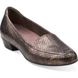 Women's Clarks Timeless Bronze Leather
