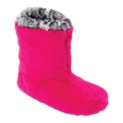 Women's Dearfoams Colorblocked Pile Boot Paradise Pink
