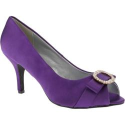 Women's Annie Lobby Purple Satin