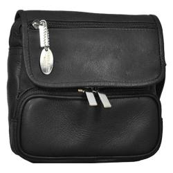 David King Leather 409 Large Double Pocket Waist Pack Black