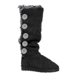 Women's MUK LUKS Malena Crotchet Button Up Boot Black