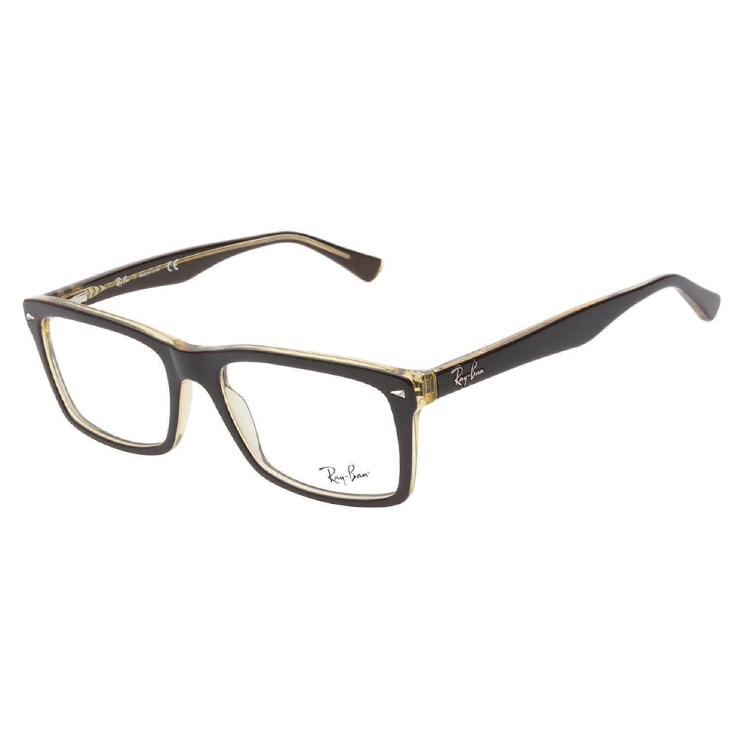 Ray-Ban 5287 5373 Brown Yellow Prescription Eyeglasses ...