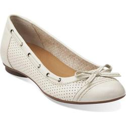 Women's Clarks Poem Cottage Off White Leather