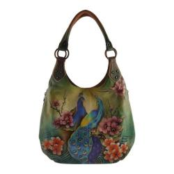 Women's Anuschka Large Shoulder Hobo Passionate Peacocks