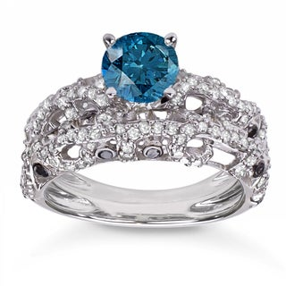 Wedding Ring Sets With Blue Diamonds Wedding Rings