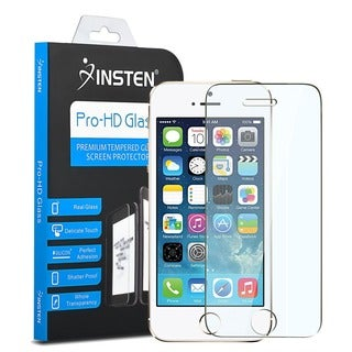 INSTEN Tempered Glass Screen Protector for Apple iPhone 5/ 5S/ 5C