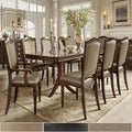 TRIBECCA HOME 'LaSalle' Espresso 9-piece Pedestal Extending Table Dining Set