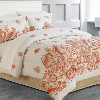 Global Paisley 8-piece Bed in a Bag with Sheet Set