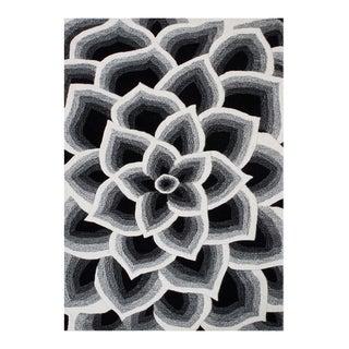 Handmade Circles Off-white New Zealand Blend Wool Area Rug (9' x 12')