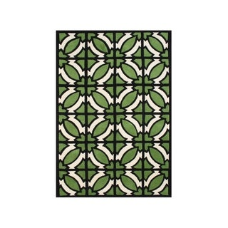 Hand-tufted Jet Black Blended Wool Area Rug (9' x 12')