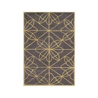 Alliyah Handmade Teak New Zealand Blend Wool Rug (9' x 12')