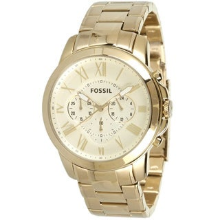 Fossil Men's FS4814 Grant Goldtone Chronograph Watch