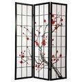 Spruce Wood and Rice Paper Cherry Blossom Shoji Screen (China)