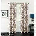 Celestina Wave Jacquard Grommet Blackout Curtain Panel Pair