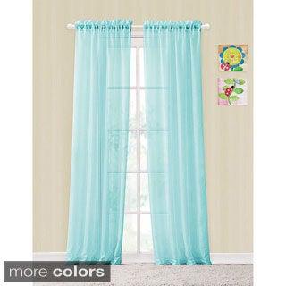 Victoria Classics Colette Window Panel Rod Pocket Sheer Curtains