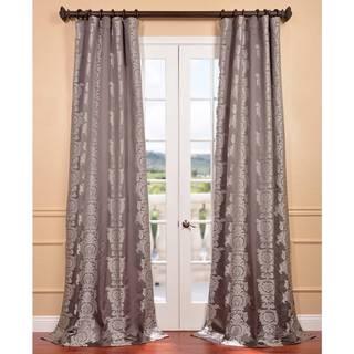 Smoke Faux Silk Surrey Jacquard Curtain Panel