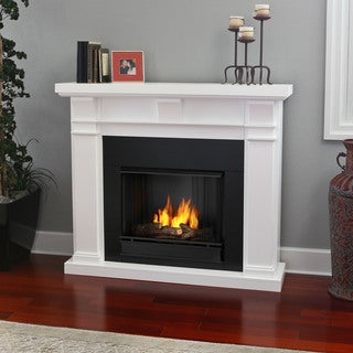 Real Flame 'Porter' White Gel Fireplace