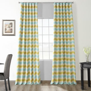 Espen Citron Faux Silk Jacquard Curtain Panel