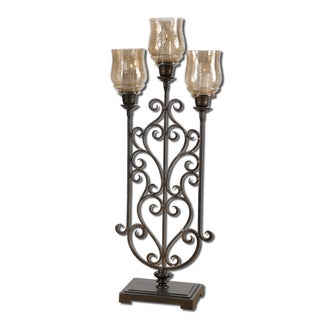 Uttermost 'Fela' Antique Bronze Candle Holder
