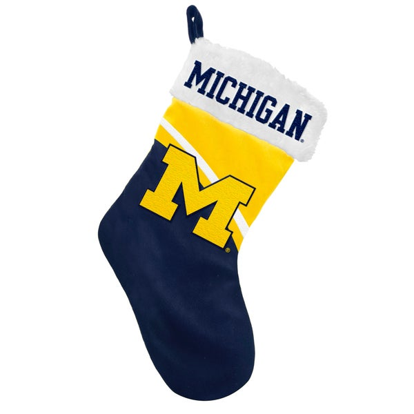 NCAA Michigan Wolverines Swoop Logo Stocking