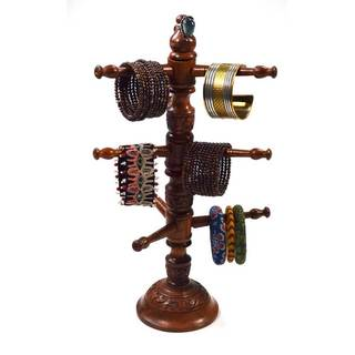 Handmade Rotating Cleopatra Jewelry Stand (India)