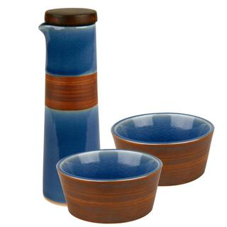 Pure Nature Blue 2-Piece Oil and Vinegar Dipping Set