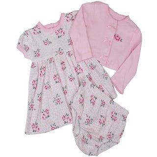Vitamins Baby Girls Jumper Set in Pink Rose