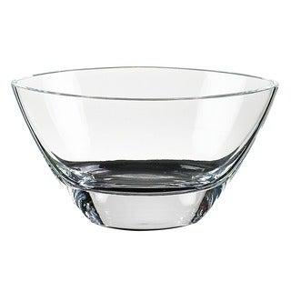 Maui 8-inch Clear Crystal Oval Bowl