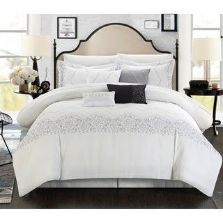 Grace 8-piece White Comforter Set